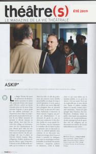 article Théâtre(s)